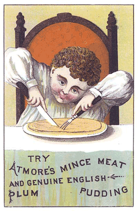 old advertisement for mince meat