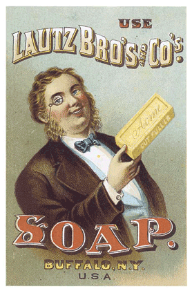 old advertisement for soap